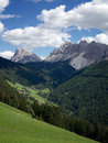 Dolomites Panorama near Plose, Bolzano Portrait view Royalty Free Stock Photo