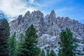 Dolomites sasso lungo group in the mountains of northern italy Stock Images