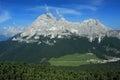 Dolomites view from col de varda italy Stock Image