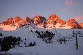 Dolomiti alps italy some views of during winter time Royalty Free Stock Photos