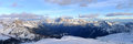 Dolomiti alps italy some views of during winter time Stock Photography