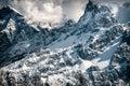 Dolomiti, winter view Royalty Free Stock Photo