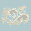 Dolphin doodle sketch Royalty Free Stock Photo