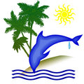 Dolphin holiday day Royalty Free Stock Image