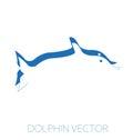 Dolphin minimal vector illustration