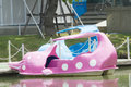 Dolphin pedal boat in the park Royalty Free Stock Photo