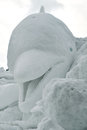 Dolphin Snow Sculpture Stock Photos