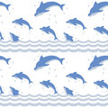 Dolphins in the sea | Seamless pattern Royalty Free Stock Images