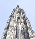 Dom in cologne near rhine river cathedral germany Royalty Free Stock Photo