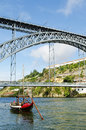 Dom luis bridge landmark in porto portugal ribeira area of Stock Photos