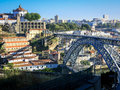 Dom luis bridge porto i over douro river and vila nova de gaia portugal Royalty Free Stock Image