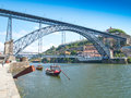 Dom luis i bridge porto douro province portugal Royalty Free Stock Images
