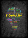 DOMAIN concept on chalkboard Royalty Free Stock Photo