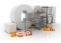 Domain name dot com Royalty Free Stock Photo