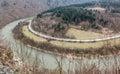 Domasinsky meander, Slovakia Royalty Free Stock Photo