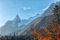 Dombai scenery of rockies in caucasus region in russia a mountainous area karachay cherkessia the kuban basin the north Stock Photography