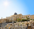 The dome of the Al-Aqsa Mosque on the Temple Mount Stock Photos