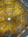 Dome of baptistery di san giovanni florence italy mosaic ceiling in inside the the or battistero Royalty Free Stock Photography