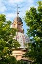 Dome baraccano church of bolonia italy Royalty Free Stock Photography