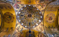 Dome of basilica di san marco venice italy april image with interior taken on april in italy interior byzantine style painted Royalty Free Stock Images