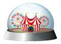A dome with a carnival inside illustration of on white background Stock Image