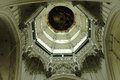 Dome in the cathedral of antwerp view into belgium Royalty Free Stock Images