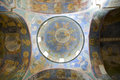 The dome of the church with frescoes Royalty Free Stock Photo
