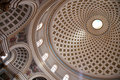 Dome of   church  at Mosta Royalty Free Stock Images
