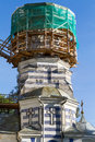 Dome of the church in scaffolding round shape Royalty Free Stock Photo
