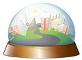 A dome designed city illustration of on white background Stock Images
