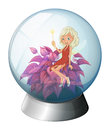 A dome with a fairy illustration of on white background Stock Photography
