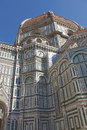 Dome of florence cathedral italy a view the the cattedrale di santa maria del fiore Stock Photos