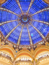 Dome of galeries lafayette interior in paris france Stock Images