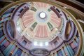 Dome at the jefferson national expansion memorial st louis missouri interior of of is a to thomas s role in opening west to Royalty Free Stock Photo