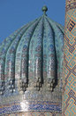 Dome of madrasah at Registan Square in Samarkand Stock Photo