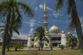 Dome and Minarets of Sabah State Mosque in Kota Kinabalu Royalty Free Stock Photo