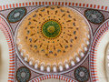 Dome of a mosque interior shot the suleymaniye camii istanbul turkey Royalty Free Stock Photos