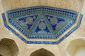 Dome of the mosque, oriental ornaments from Khiva Royalty Free Stock Photo