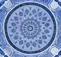 Dome of the mosque, oriental ornaments, Samarkand Royalty Free Stock Photo