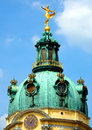 The dome old european covered by copper in berlin Royalty Free Stock Image