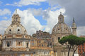 Dome of the old historical buildings in center rome Stock Photos