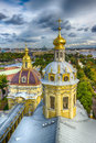 Dome  Peter and Paul Cathedral top view panorama St.-Petersburg Royalty Free Stock Photo