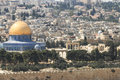 Dome of the rock at temple mount nobel sanctuary in old city jerusalem Royalty Free Stock Image