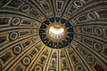 The dome of St. Peter in the basilica Royalty Free Stock Photo