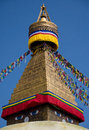 Dome stupa this is the world s largest pagoda located in kathmandu of nepal bodhnath Stock Images