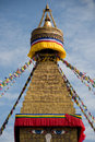 Dome stupa this is the world s largest pagoda located in kathmandu of nepal bodhnath Stock Photos