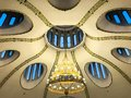 Ceiling of a christian dome with oval windows Royalty Free Stock Photo