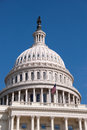 Dome of the united states capitol building western facade and washington d c Stock Photography