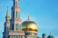 Domes of the Cathedral Mosque in Moscow Royalty Free Stock Photo