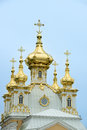 Domes chapel peterhof st petersburg of the east of russia with soft light at autumn Stock Photos